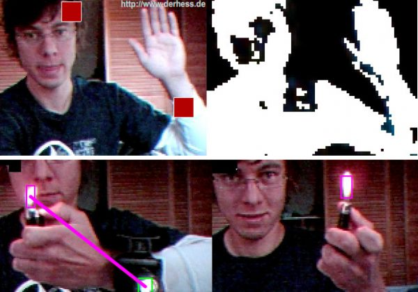Tracking examples of Interactive Webcam Package