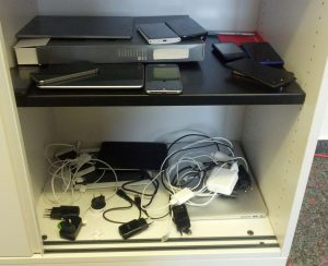 Storage of our Our testing devices