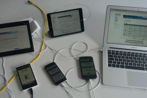 Cross-device test with my website derhess.de