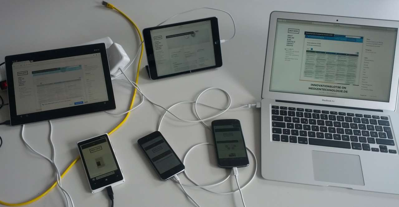 Cross-device test with my website derhess.de