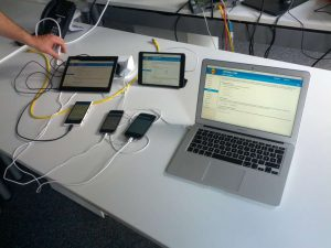 Multi-device testing output of the FritzOS
