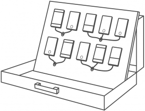 Sketch of a Mobile Device Lab by Labcase